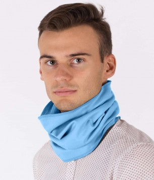 EMF Protective Hooped Scarf (Blue)