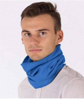 Leblok EMF hooped scarf, Bright Blue