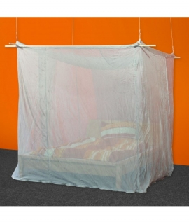 Protective Canopy, Silver-Tulle, Double