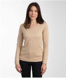 Leblok EMF long sleeved T-shirt, Women, Beige