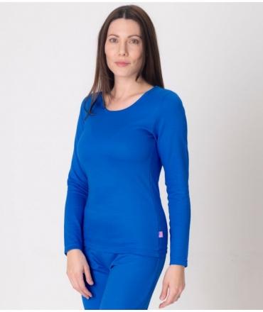 Leblok EMF T-shirt, Long Sleeved, Women, Blue